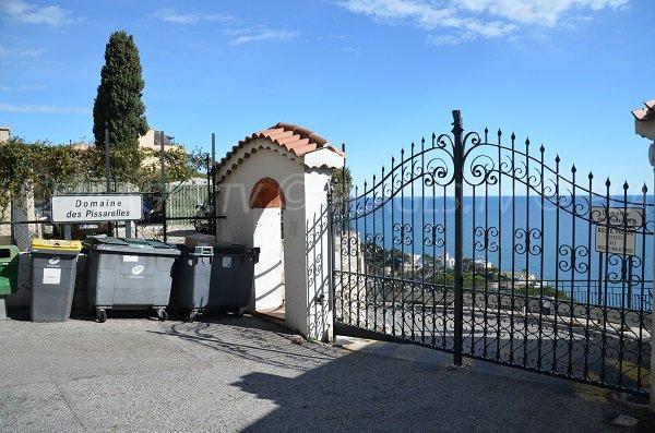 Der Zugang zum Strand von Domain Pissarelles - Cap d'Ail