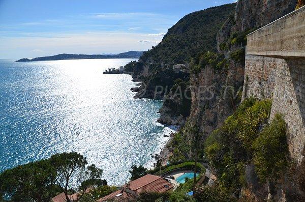 Strand Pissarelles Blick aus dem Zugangsbereich