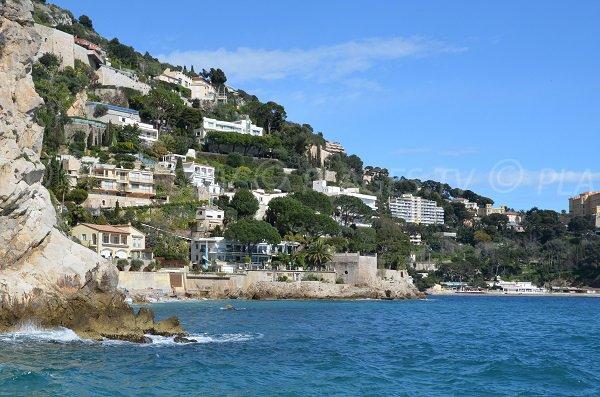 Blick Strände Pissarelles und Mala Cap d'Ail
