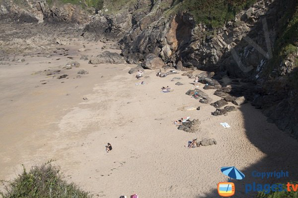 Photo de la plage de la Pissotte à St Cast Guildo
