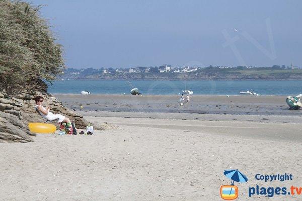 Pissotte beach in Saint Jacut de la Mer in France