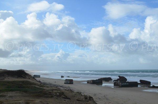 Départ de la plage de la Piste à Capbreton
