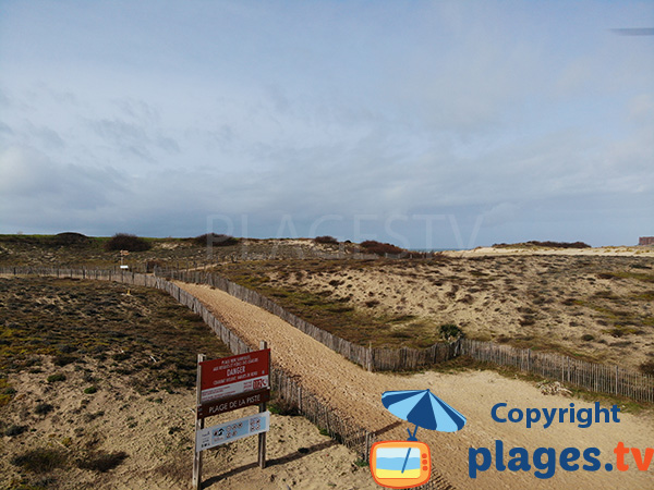 Accès à la plage de la Piste - Capbreton