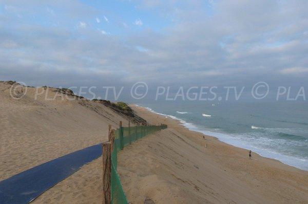 Accès aménagé pour la plage de la piste - Capbreton