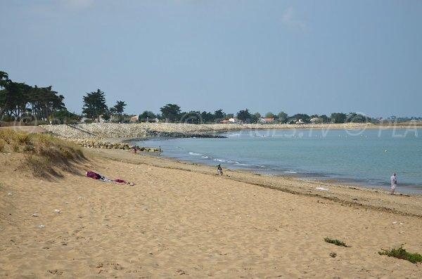 Extrémité de la plage de Planginot à la Brée les Bains