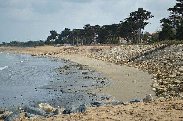 Photo of the beach in Brée les Bains in Oleron - France