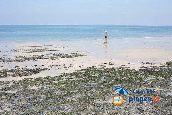 Granville beach in low tide