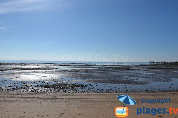 Platère beach at low tide - Angoulins
