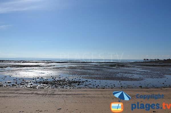 Plage de la Platère à marée basse - Angoulins