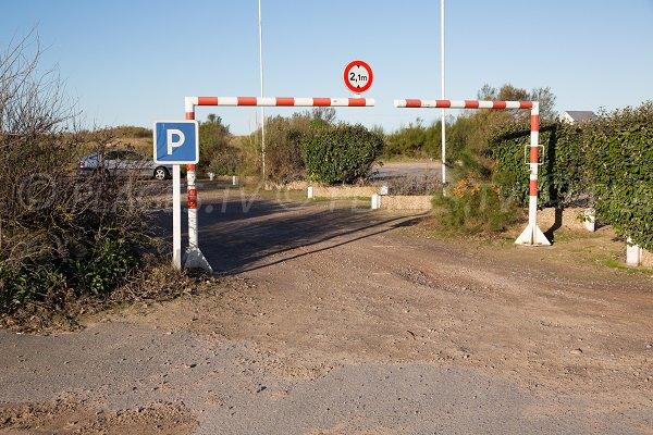 Parking de la plage du Platon de Bernières