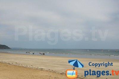 Plage de Plérin en Bretagne