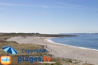 Grande beach in Ploemeur in Brittany
