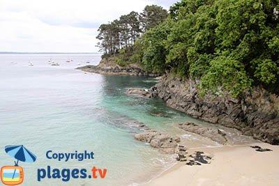 Plage à Plougonvelin en Bretagne