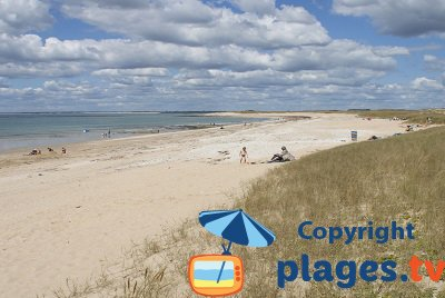 Plouhinec beach in south of Brittany - France