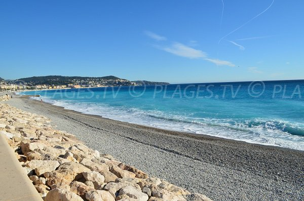 Foto spiaggia Poincaré in inverno a Nizza