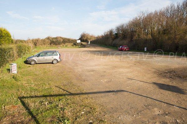 Parking of Point du Jour beach - Merville-Franceville