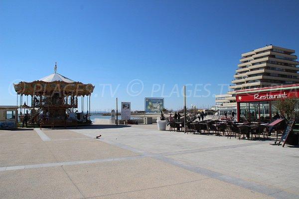 ristorante vicino alla spiaggia a La Grande Motte