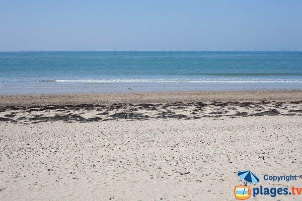 Beach of Pointe du Banc of Saint Germain in Normandy