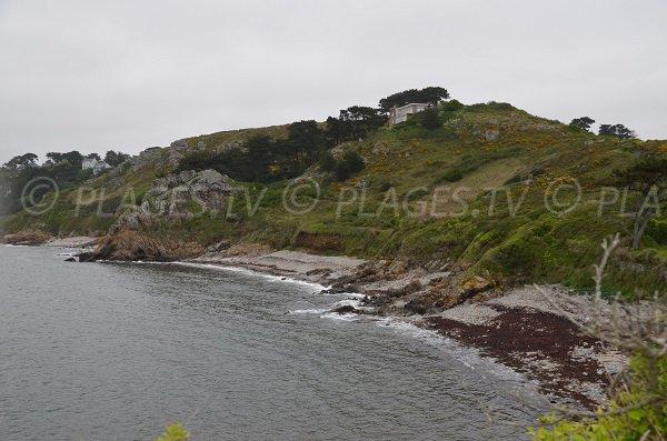 Photo de la plage nord de la pointe de Bihit à Trébeurden
