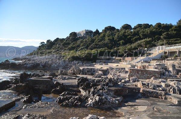 Original beach in Roquebrune Cap Martin