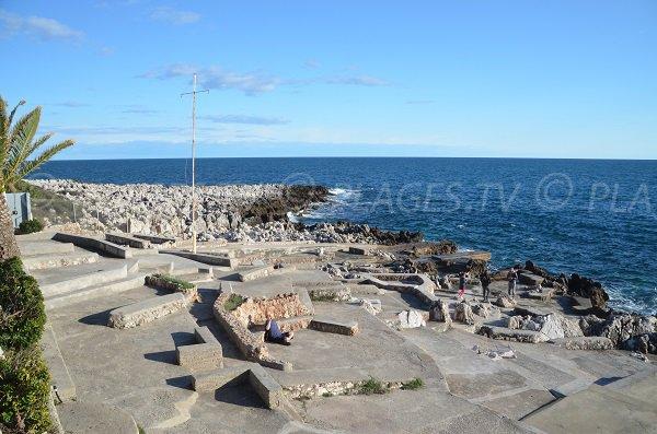 Photo de la plage de la Pointe du Cap Martin - Roquebrune Cap Martin
