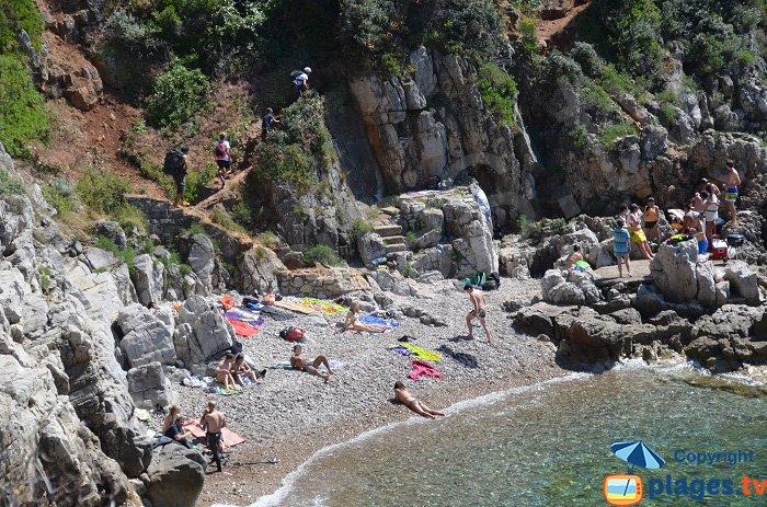 Caletta sentiero costiero a Roquebrune Cap Martin