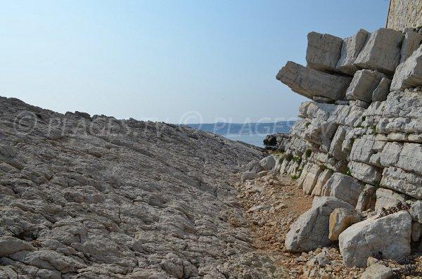 Rocks near Eden Roc palace in Cap d'Antibes