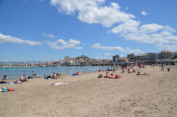 Pointe Rouge beach in Marseille in France