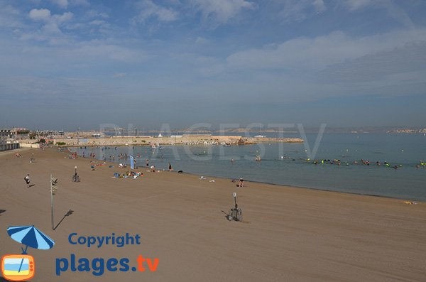 Plage gratuite à la Pointe Rouge à Marseille