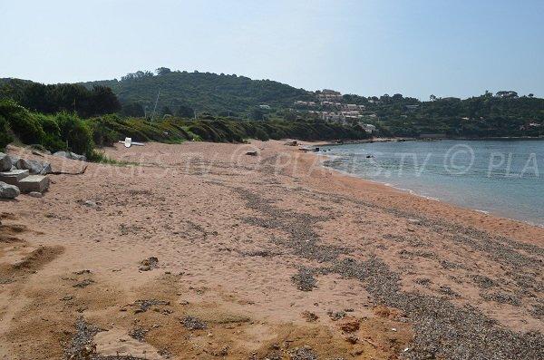 Wild beach in Porticcio in Corsica