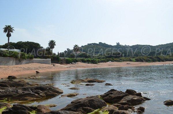 Wild beach near center of Porticcio - Corsica