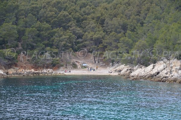 Beach near the calanque of Port d'Alon in St Cyr sur Mer