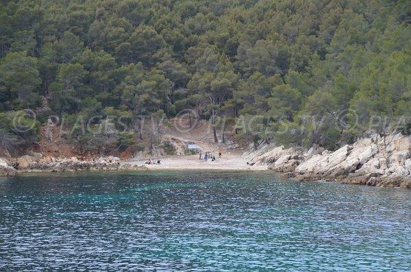 Spiaggia vicino alla calanque di Port d'Alon a St Cyr sur Mer