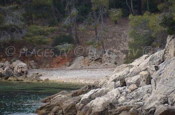 Plage Nord de la Pointe des Termes à St Cyr sur Mer