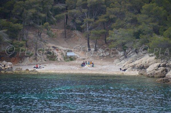 Spiaggia della Punta delle Termes a Saint Cyr sur Mer - Francia