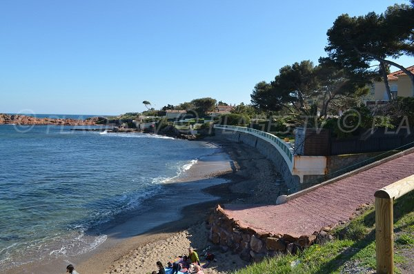 Pointes Longues beach in Agay in France