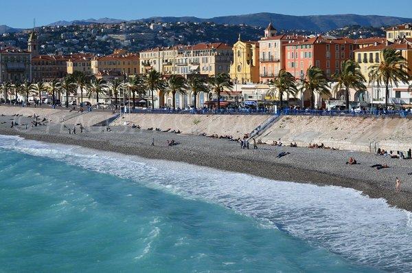 Plages le long du Vieux Nice