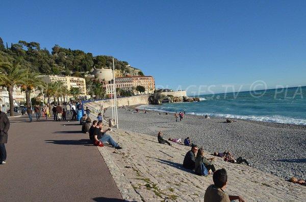 Plage de la Ponchette à Nice