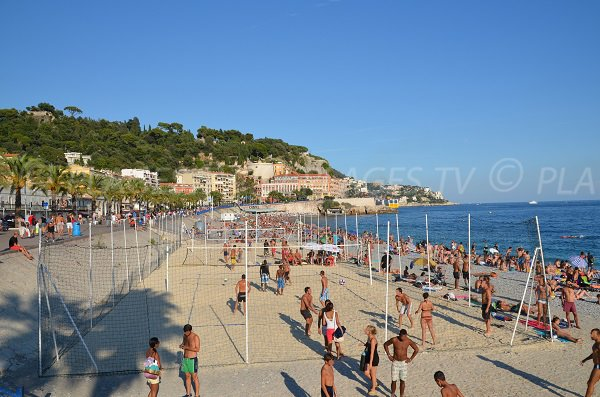 Volleyball on the Ponchettes beach in Nice - France