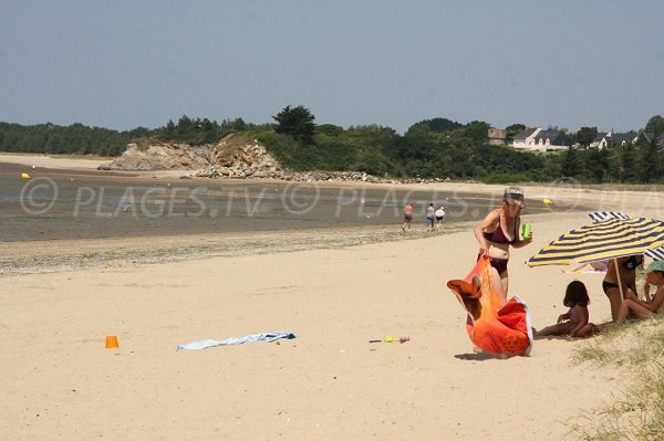 Assérac beach in summer - France