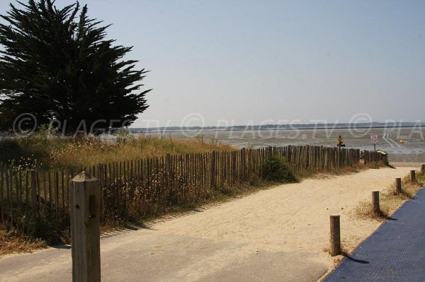 Access to Pont Mahé beach - Asserac