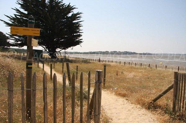 Coastal trail in Pont Mahé in Assérac