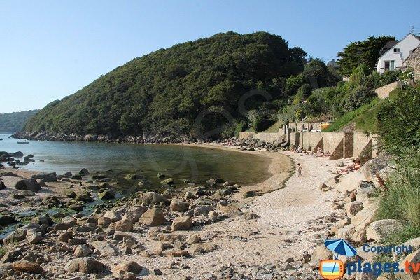 Photo de la plage de Pont Roux au Yaudet (Bretagne)