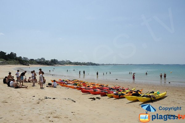 Water sports on St Malo Pont Beach