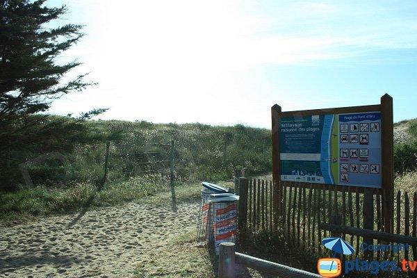 Percorso di accesso alla spiaggia di Pont d'Yeu