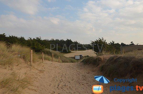 Accesso alla spiaggia di Pont d'Yeu - Vandea
