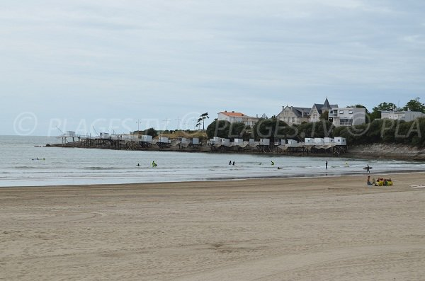 Surf beach in Royan in France