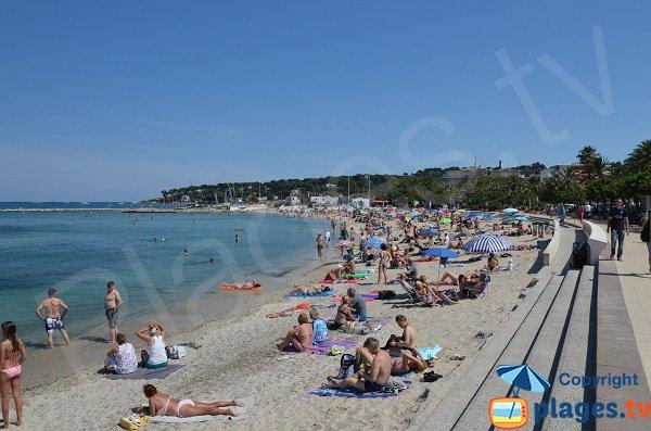 Ponteil beach in june - France - Antibes