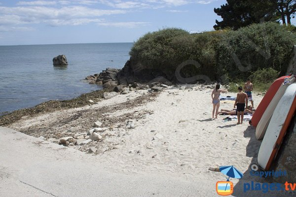 Port Guerh cove in Gavres in Brittany