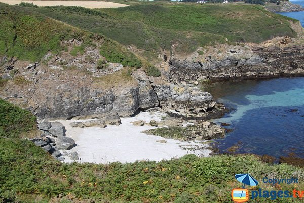 Photo de la crique de Porh Ized à Belle Ile en Mer - Sauzon